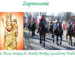 Zaproszenie na Mszę Świętą do Matki Boskiej Gaździny Podhala
